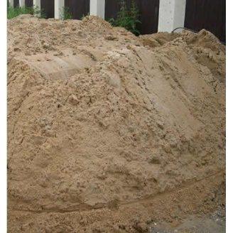Песок карьерный 0,6 мм навалом