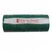 Изоляционная лента ElectroHouse Зеленая 0,15х18 мм 50 м (EH-AHT-1839)