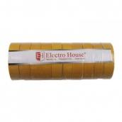 Изоляционная лента ElectroHouse Желтая 0,15х18 мм 50 м (EH-AHT-1838)