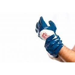 Перчатки хлопковые Cerva HARRIER с частичным покрытием нитрилом р.10 (63009)