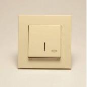 Кнопка контролю освітлення Gunsan Eqona з підсвічуванням Крем (1401200100106)