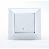Кнопка управления дверным замком Gunsan Neoline белая (1421100100110)