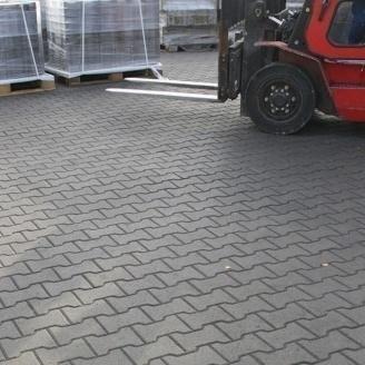 Тротуарная плитка Золотой Мандарин Двойное Т 200х170х100 мм серый