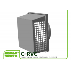 C-RVC решетка-вытяжка с сеткой для круглых каналов