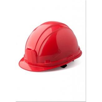Каска Укрспецзащита шахтер 52-63 см красная