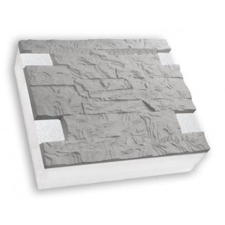 Термопанель Полифасад ПСБ-С-35-100 серый цемент 15-17 кг/м3 500х250 мм