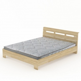 Двуспальная кровать Стиль-160 Компанит 2133х1644х766 мм дсп дуб-сонома