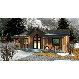 Будинок дерев'яний з профільованого бруса 11х10 м