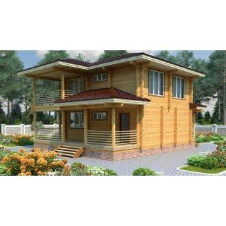 Дом из профилированного бруса 9х9 м