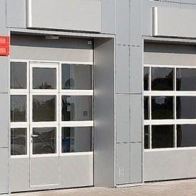 Секційні ворота ALUTECH AluTrend АЛПС S-гофр 40 мм