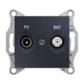 Розетка TV-SAT Schneider Electric Sedna SDN3401670 кінцева 70х64х40 мм графіт