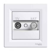 Розетка TV-SAT Schneider Electric Asfora EPH3400121 кінцева 83х83х38 мм білий