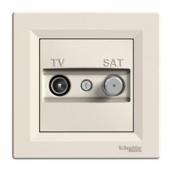 Розетка TV-SAT Schneider Electric Asfora EPH3400123 кінцева 83х83х38 мм кремовий