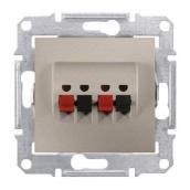 Аудіорозетка Schneider Electric Sedna SDN5400168 71х71х44,5 мм титан