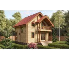 Строительство дома из профилированного бруса 7х7 м