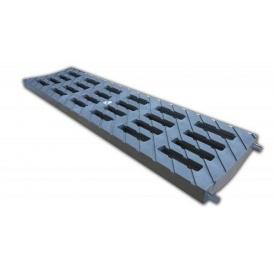 Решетка ливневая 100 В-125 136 мм пластиковая (металлик)