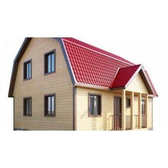 Строительство дома из профилированного бруса 7х9 м