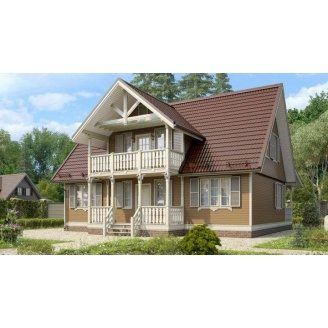 Строительство дома из профилированного бруса 10х12 м
