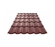 Металлочерепица Ruukki Monterrey Polyester Matt 0,5 мм Шоколадный