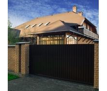 Відкатні ворота Alutech Elegant екструдований алюмінієвий профіль
