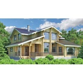 Будівництво будинку з оцилиндрованного колоди 13х14 м
