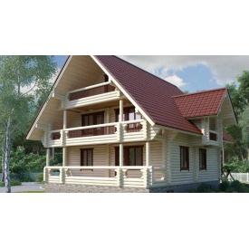 Будівництво будинку з оцилиндрованного колоди 10х11 м