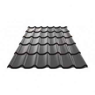 Металлочерепица Ruukki Monterrey Polyester Matt 0,5 мм Черный