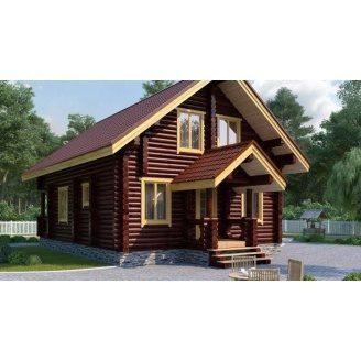 Строительство дома из оцилиндрованного бревна 7х11 м