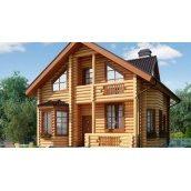Деревянный дом из оцилиндрованного бревна 11х9 м