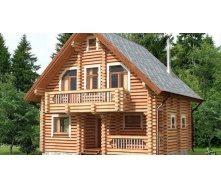 Строительство дома из оцилиндрованного бревна 7х9 м