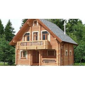 Будівництво будинку з оцилиндрованного колоди 7х9 м