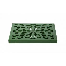 Решетка к дождеприемнику декоративная пластиковая Зеленый папоротник