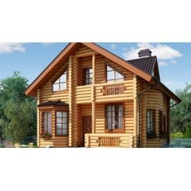 Дерев'яний будинок з оциліндрованої колоди 11х9 м