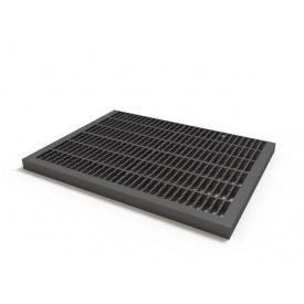Придверная решетка пластиковая черный