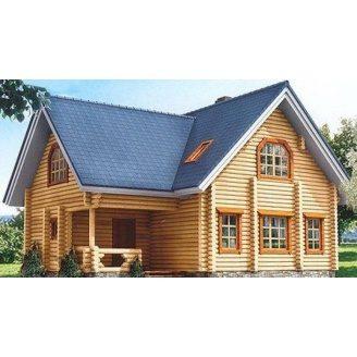 Дом из оцилиндрованного бревна 10х11 м