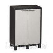 Шкаф низкий Factory S черный/молочно-белый Toomax