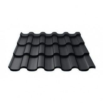 Металлочерепица Ruukki Adamante Polyester Matt 0,5 мм Черный