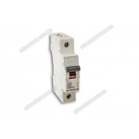Автоматичний вимикач DX-63 1P 25A 6kA AC