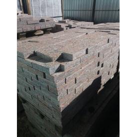 Бруківка пиляна термооброблена Капустянського родовища 200x100x50 мм
