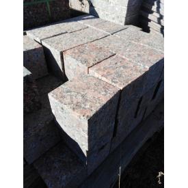 Брусчатка пиленная термообработанная Капустянского месторождения 100x100x100 мм