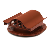 Аератор для фальцевої і бітумної покрівлі Polivent KTV полімер 110х330х265 мм теракотовий