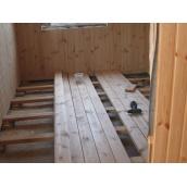 Установка деревянного пола