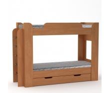 Двухъярусная кровать Компанит Твикс 77х152х210 ольха