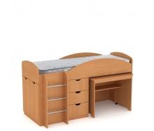 Кровать Компанит Универсал 89х106х194 бук