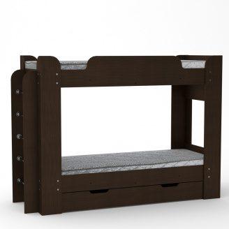 Двох'ярусне ліжко Компанит Твікс 77х152х210 венге