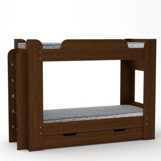 Двох'ярусне ліжко Компанит Твікс 77х152х210 горіх