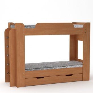 Двох'ярусне ліжко Компанит Твікс 77х152х210 вільха