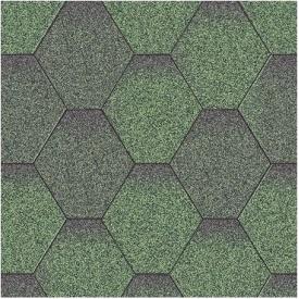 Бітумна черепиця Акваізол стеклохолст 320х1000 мм зелений мікс