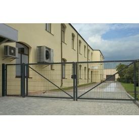 Ворота розпашні з зварної сітки 1,5х3 м зелені (RAL 6005)