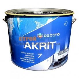 Краска Eskaro Akrit 7 моющая шелково-матовая для стен 9,5 л